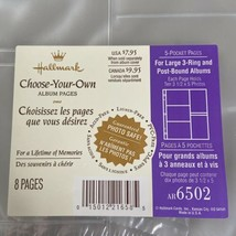 Hallmark AR6502 5 Pocket Pages Refill Large 3 Ring Post Bound 8 Pages 3.... - $22.12