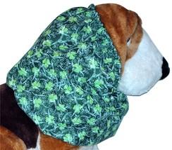St Patricks Lucky Shamrocks and Scrolls Cotton Dog Snood Size Puppy SHORT - $9.50