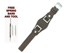 24mm Brown Leather Watch Strap For Fossil Jake JR1155 545FSL - $34.65