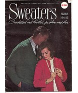 Sweaters Sizes 10 to 52 Crocheted & Knitted Star Book 176 - $5.50