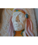 Hand Cast Paper Relief Sculpture Chief Framed Sgd Wess - $83.99
