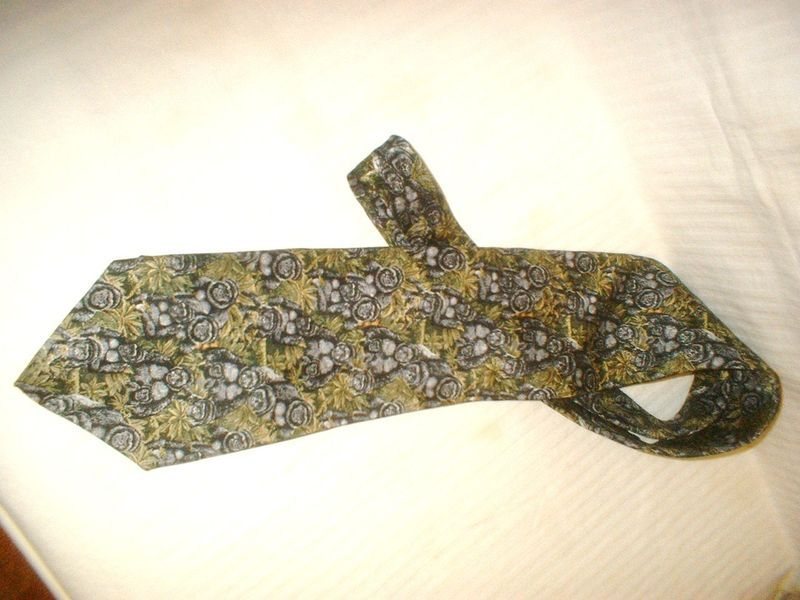 Wembley Endangered Species Neck Tie Print 100% Silk
