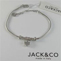 Silver Bracelet 925 Jack&co with Star Dog Butterfly Four-Leaf Clover or Cat image 4