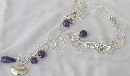 Amethyst silver necklace 1 thumb200