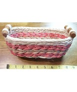 Handcrafted Pink Woven Basket For Small Items! - $5.40