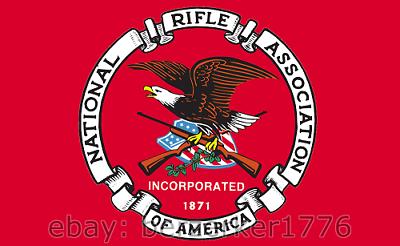 NRA National Rifle Association 3/' x 5/' White horiz Flag 2nd Amendment USA Seller