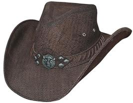 Bullhide American Buffalo Cowboy Hat Genuine Buffalo Leather Chocolate Brown - £103.76 GBP