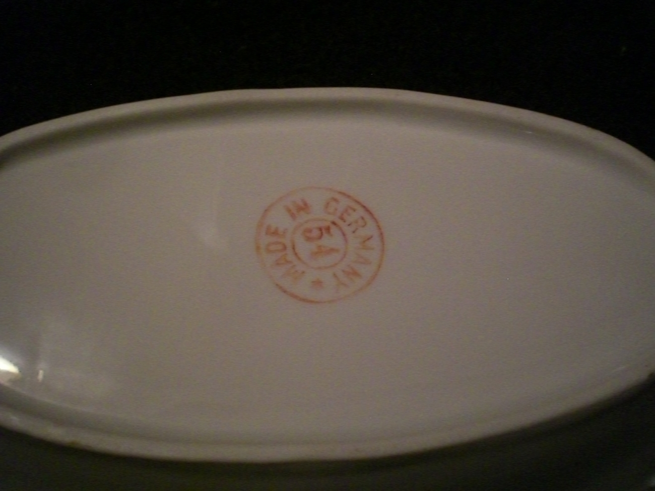 Beautiful Antique 'Made in Germany' Relish Dish with Handles