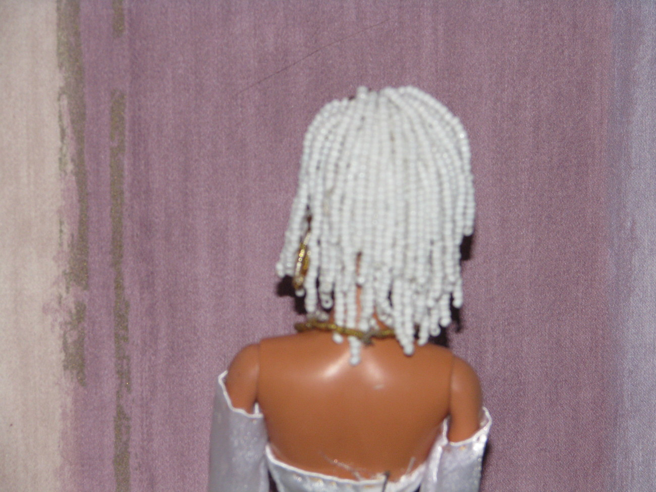 Beaded Hair Fashion Doll Alyssa OOAK Refashioned Barbie