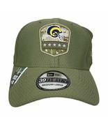 New Era Los Angeles Rams 39Thirty Salute to Service Hat Cap Size Medium-... - $27.99