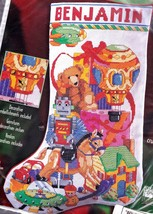Bucilla Christmas Toys Robot Horse Spaceship Cross Stitch Stocking Kit 84639 E - $62.95