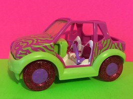 Polly Pocket Pink Lime Green Zebra Striped Jeep Toy Gift - $6.26