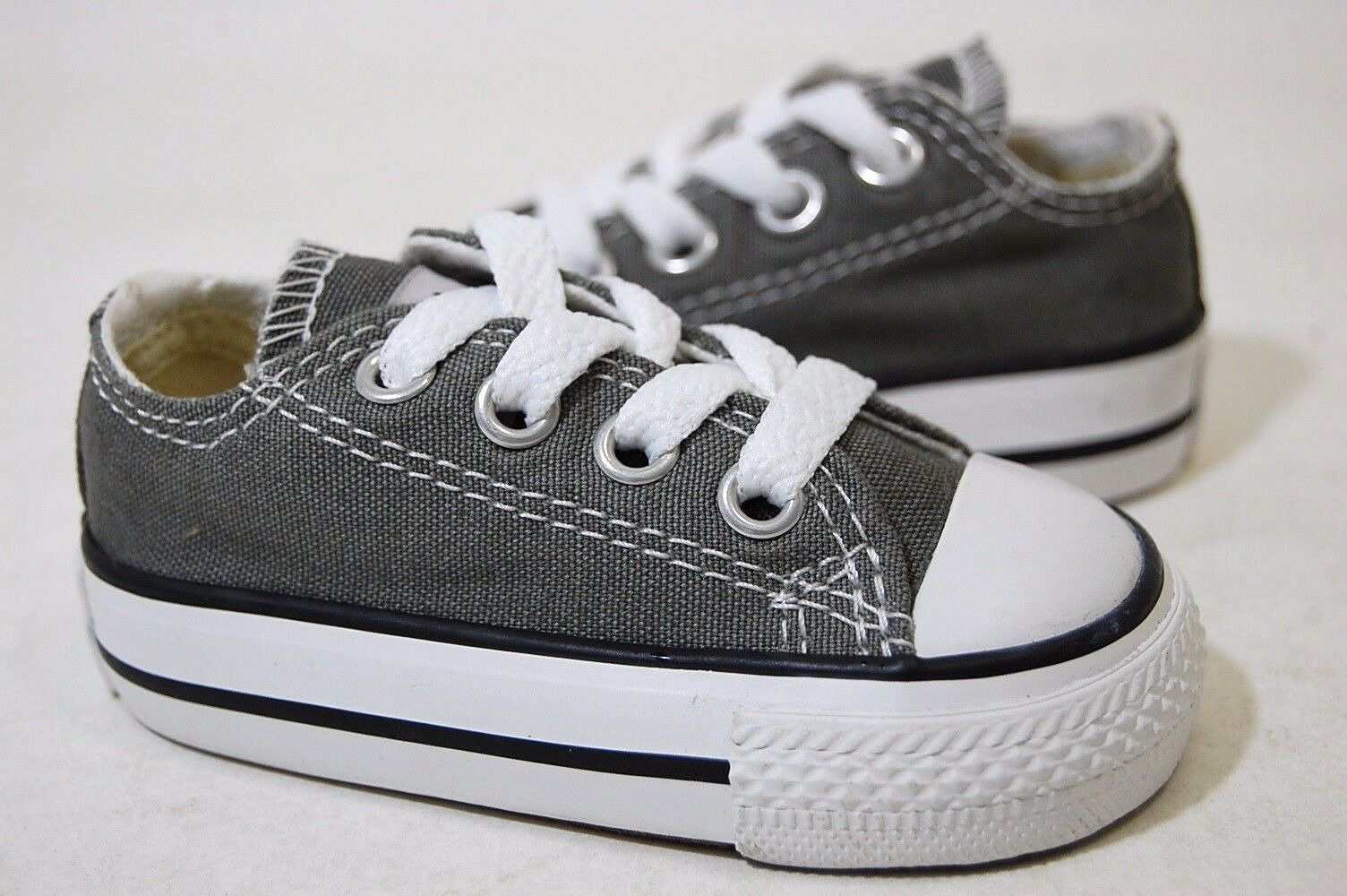 Converse All Star Chuck OX 7J794 Charcoal Baby Toddler Shoes