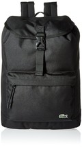 New Authentic Lacoste Fashion Flap Black Classic Premium Backpack NH2013NE - $98.99