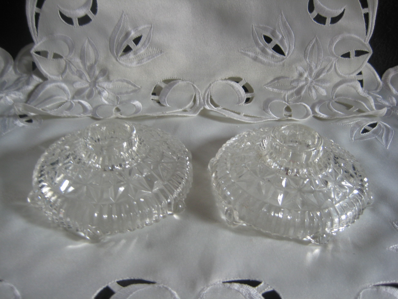 Gorgeous Crystal Clear Candlestick holders
