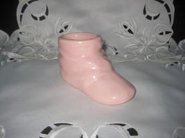 Cute Pink Ceramic Baby Bootie - $7.00
