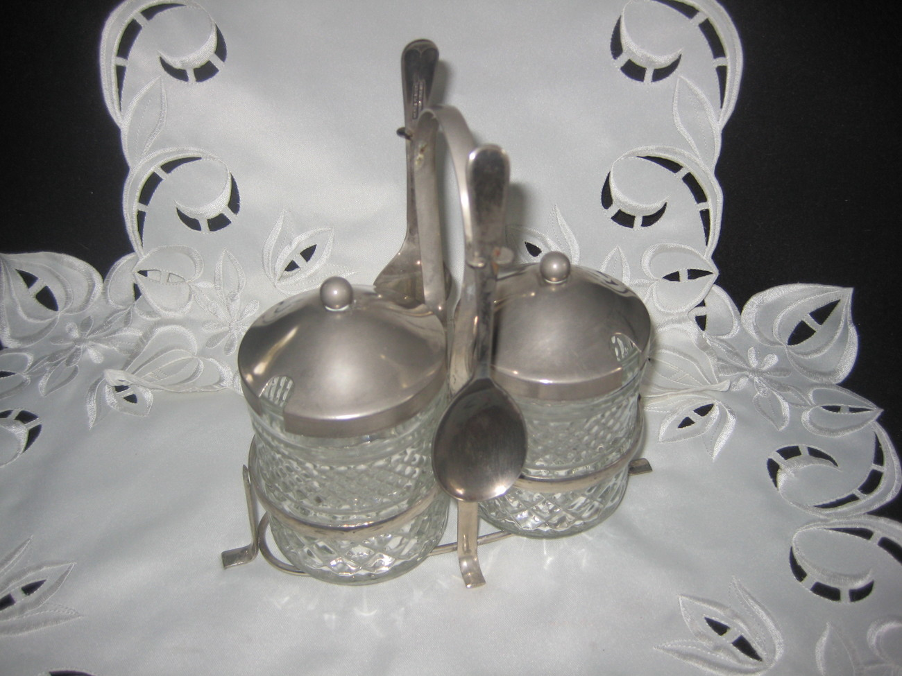Silver Condiment Set Sheffield England