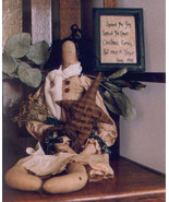 Christmas Joy OOP Primitive Stitchery and doll patt - $3.50