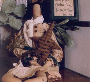 Christmas Joy OOP Primitive Stitchery and doll patt