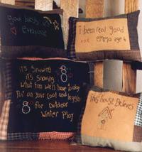 God Bless Samplers OOP Primitive Stitchery patterns - $3.50