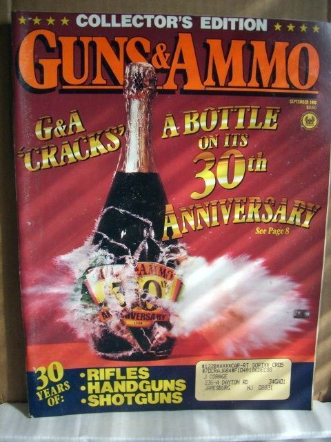 Guns & Ammo Magazine September 1988 30th Anniversary