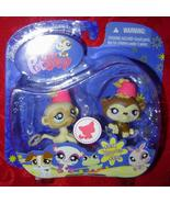 Littlest Pet Shop Monkeys #834 #835 Happiest LPS - $8.00
