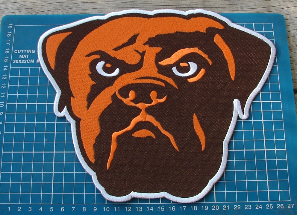 "Primary image for CLEVELAND BROWNS NFL FOOTBALL SUPERBOWL 10"" PATCH HUGE EMBROIDERED JERSEY"