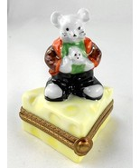Limoges Box - Whimsical Mouse on Cheese Wedge -... - $88.00