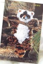 Baby Raccoon/Annie's Vintage Baby Animals Crochet Pattern Leaflet - $13.00