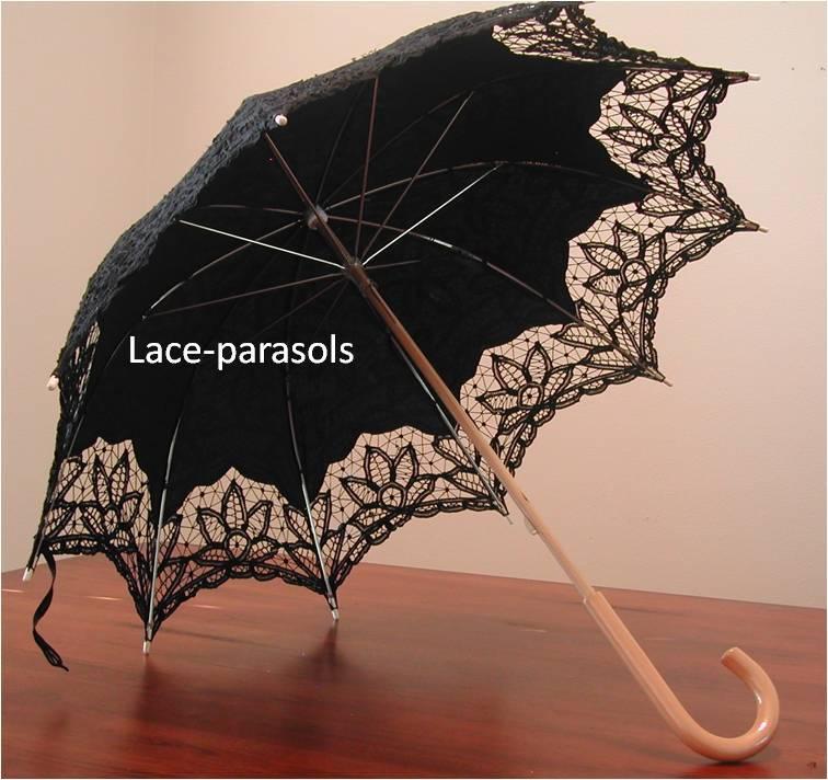 Gothic Black Lace Parasol