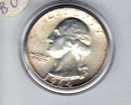 Choice uncirculated 1964 D Washington Silver Quarter. - $12.00