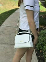NWT Michael Kors Small Sofia Satchel Crossbody Optic white - $109.99