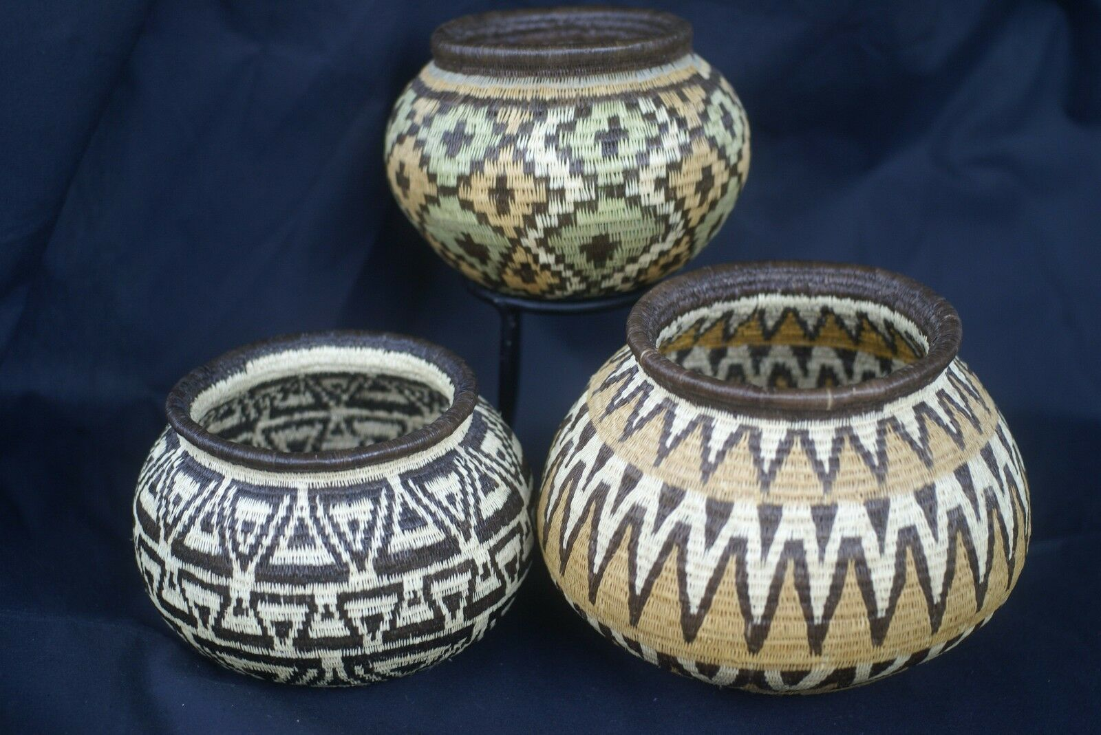 Wounaan Indian Museum Hösig Di Minute Weave Finest Art Geometric Basket 300A26 -