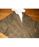 Hooded & Belted Coat jacket with faux rabbit fu... - $33.00