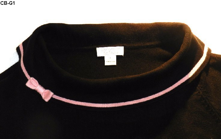 CHRISTOPHER & BANKS Size Large Black Boat-neck Sweater