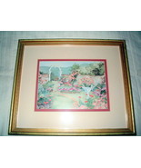 "Vintage Framed Print ""Floral Archway"" by Laura Erickson 1991 - $19.99"