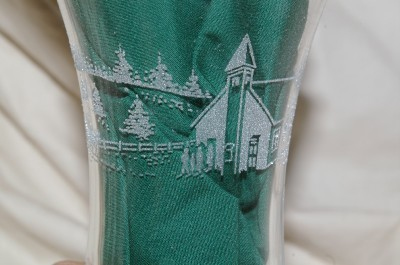 Home Interiors Etched Church Scene Votive Cups Homco