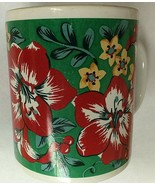Christmas Flowers Coffee Mug Cup Papel Giftware Santa Claus S. Claus & Co. - $15.55