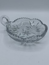 "Cut Glass Crystal Clear Nut Candy Relish Desert Bowl Dish 6"" Very NICE - $12.00"