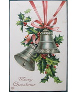 Antique, E. A. Schwerdtfeger, Bas Relief postcard, Merry Chr - $11.00