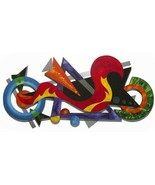 "Abstract Wall Sculpture, ""Enjoy the Ride II"" Cool,Unique,Funky Wall Deco... - $445.49"