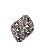 Filigree Spacer Bead Pave Diamond Finding  925 Sterling Silver Fashion J... - $390.83