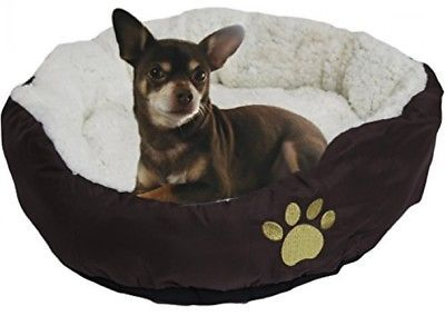 Primary image for Evelots Soft Pet Bed,For Cats And Dogs, 17 D X 5 H, Brown