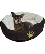 Evelots Soft Pet Bed,For Cats And Dogs, 17 D X 5 H, Brown - £23.54 GBP