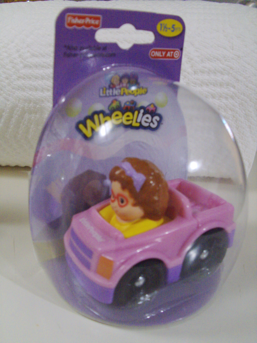 Fisher-Price Little People Easter edition Wheelies set of Maggie & Jed cars New