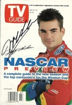 FEBRUARY 1997 NASCAR EDITION OF TV GUIDE MAGAZINE JEFF GORDON COVER SIGNED - $125.00