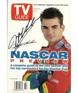 FEBRUARY 1997 NASCAR EDITION OF TV GUIDE MAGAZINE JEFF GORDON COVER SIGNED - $125.00