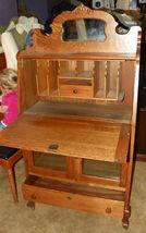 Quartersawn Oak Carved Sheboygan Drop Front Desk - $1,255.38