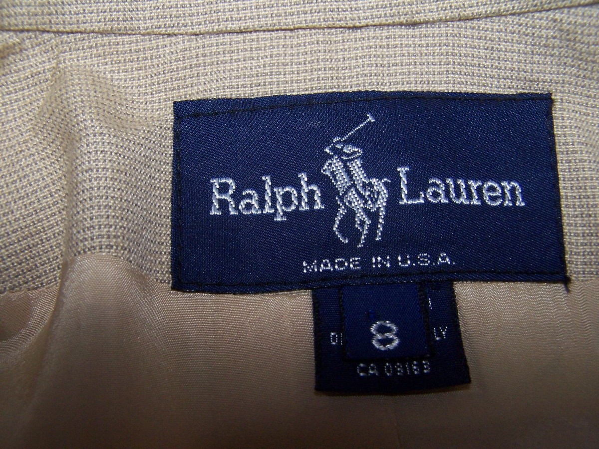 Jacket Blazer  8P  Beige  Wool  Ralph Lauren As New