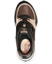 Michael Kors MK Women's Mickey Trainer Wedge Sneakers Shoes Rose Gold image 3